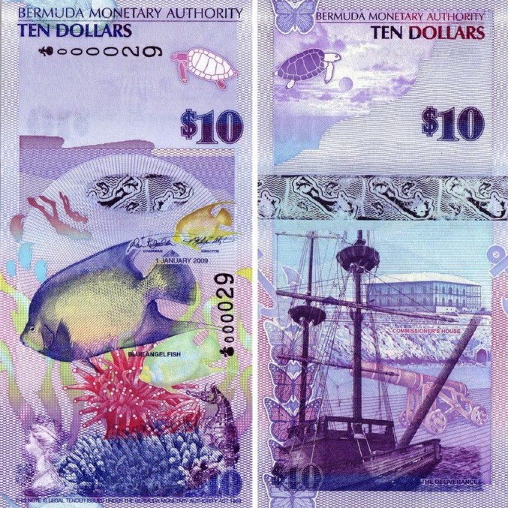 бермудские 10 долларов