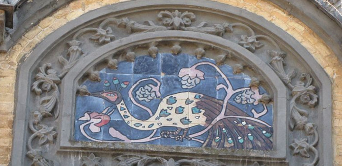 Майоликовая мозаика с павлином (фото - ru.wikipedia.org)